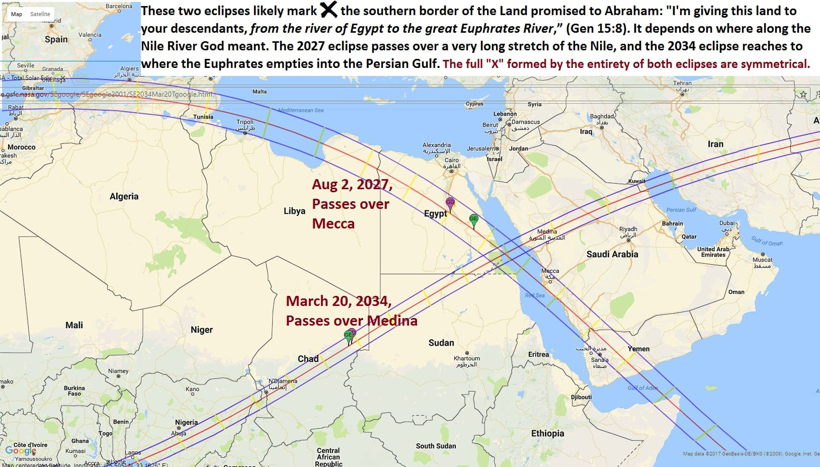 Part Three 2027 And 2034 Egypt Mecca Medina Total Solar Eclipse