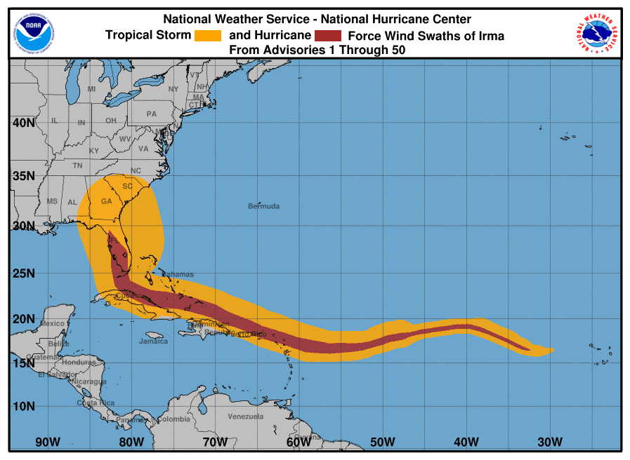 Serpent-like hurricane Irma
