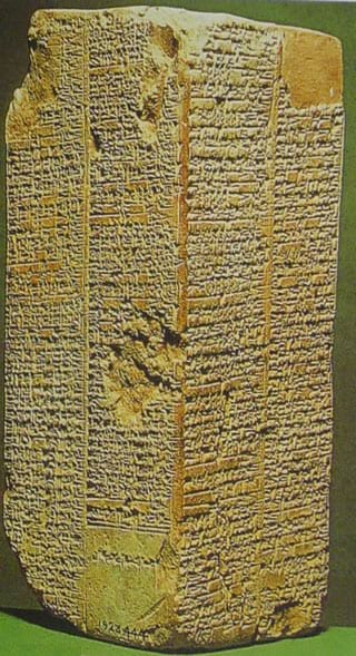 Stone tablet inscribed with the Sumerian King List -- Around the time of Abraham to Joseph.