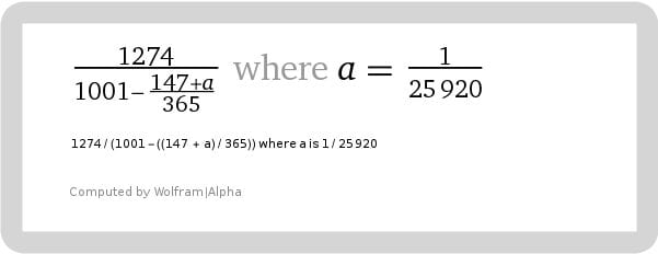 Expanded version of the same formula for Pi in space/time.